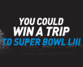 Chance to win a trip to the Super Bowl