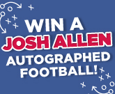 Josh Allen Autographed Football