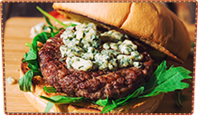 Cajun Bleu Cheese Pub Burger