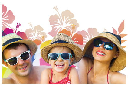 family with sunglasses