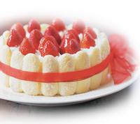 Strawberry Ribbon Ladyfinger Cake