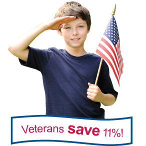 Veterans save 11%!