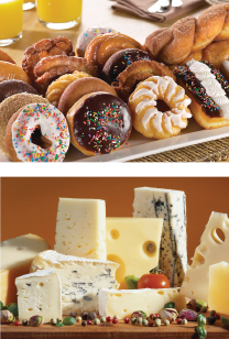 donuts and cheese assortment