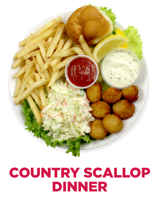 Country Scallop Dinner