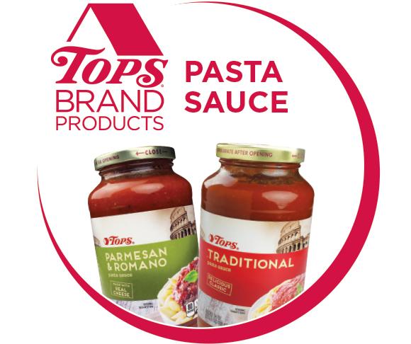 TOPS Brand Pasta Sauce