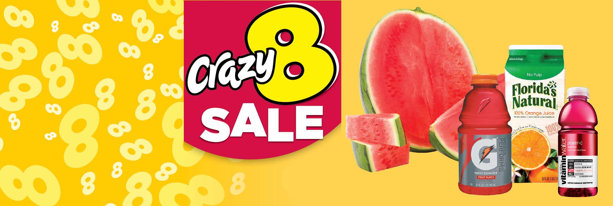 Crazy 8's Sale