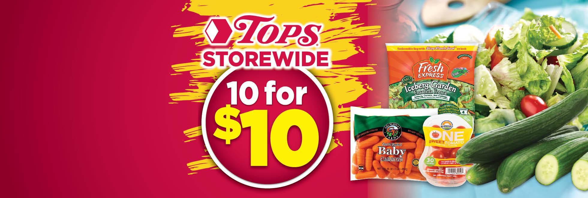 TOPS Storewide $1 Days