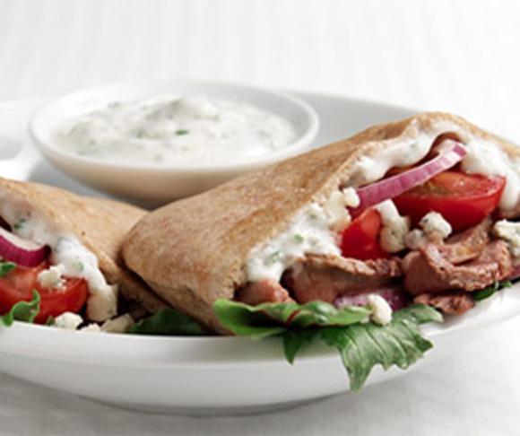 Sirloin Pita Salad Sandwich