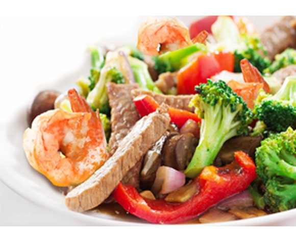Beef & Shrimp Stir Fry