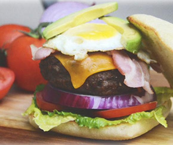 Bacon, Egg, Avacoda Burger