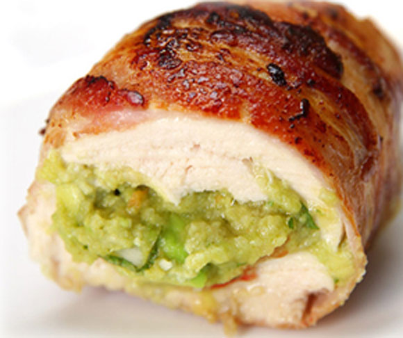 Bacon Guacamole Chicken Bombs