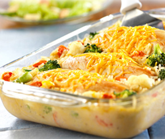 Campbell's Cheesy Chicken and Rce Casserole