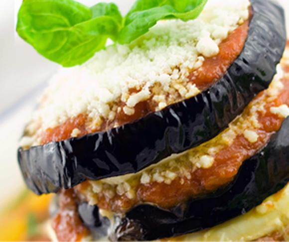 Stacked Eggplant Parmigiana Recipe