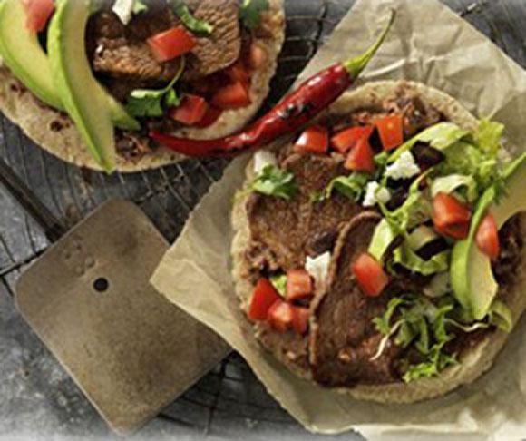 Beef Steak and Black Bean Soft Tacos Recipe