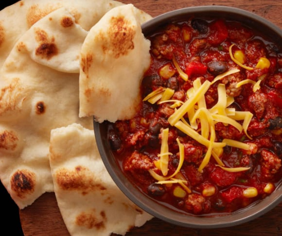Chili with Naan Cupcakes