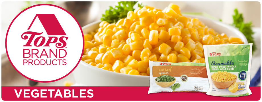 Tops Brand Frozen Vegetables