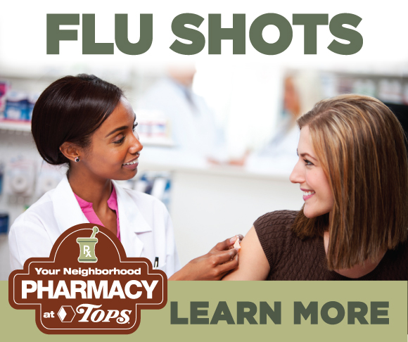 Flu Shots at TOPS Pharmacy while you shop