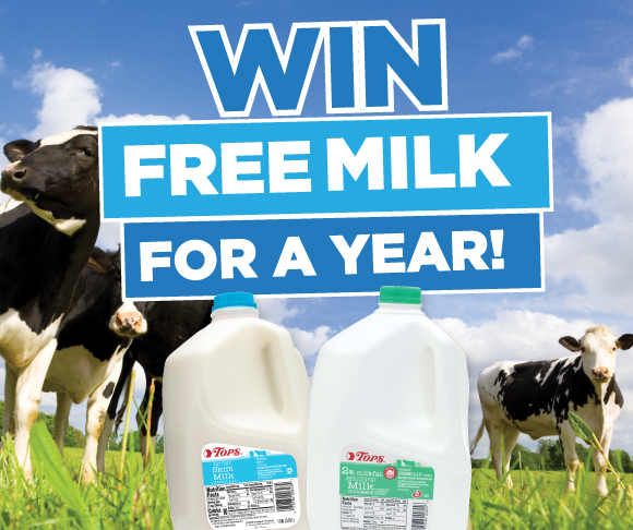 Win Free TOPS Brand Milk for a Year