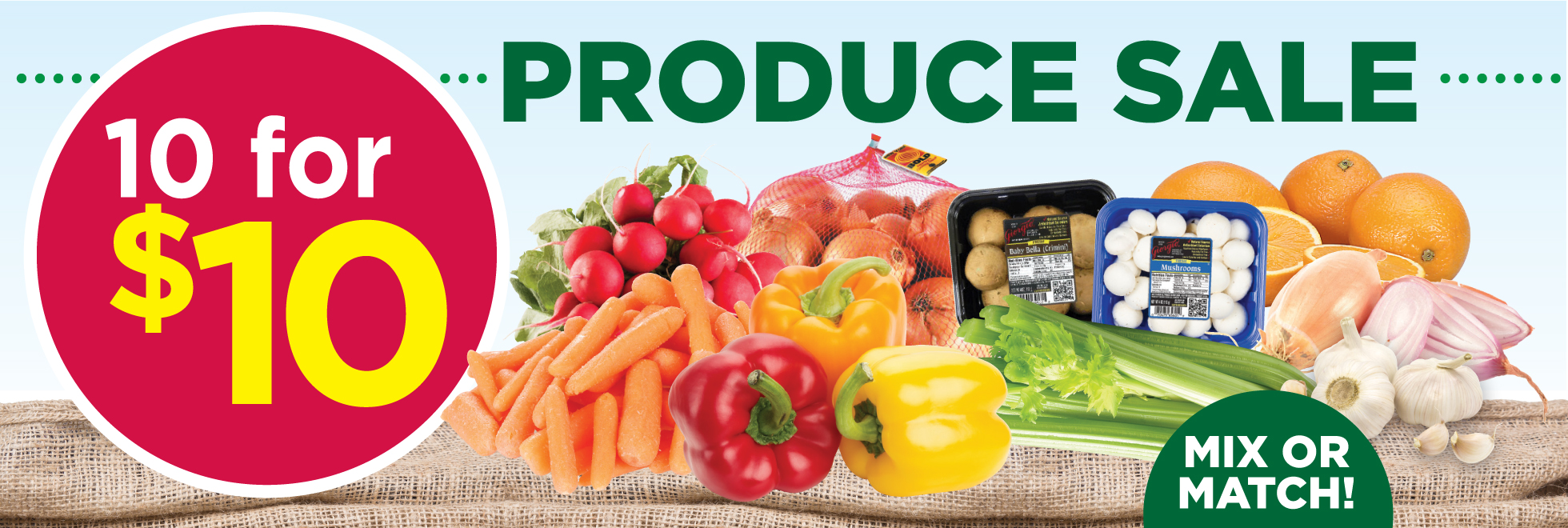 Produce 10 for $10