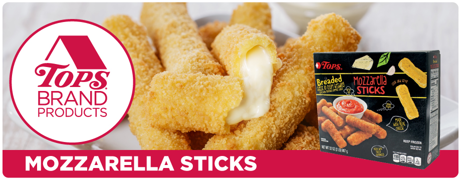 TOPS Brand Mozzarella Sticks