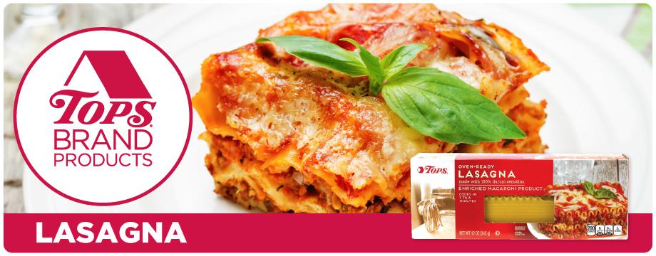TOPS Brand Lasagna