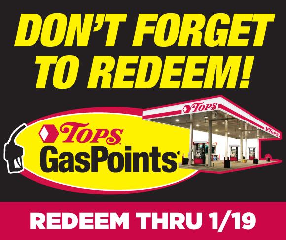 Redeem TOPS GasPoints through 1/19