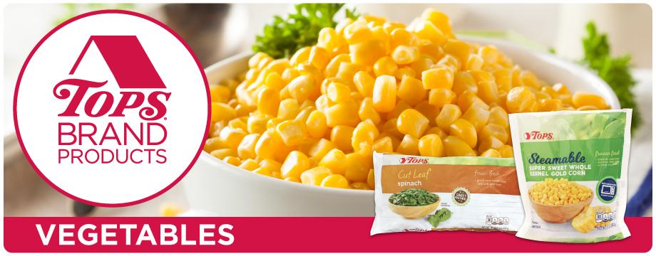 TOPS Brand Frozen Vegetables