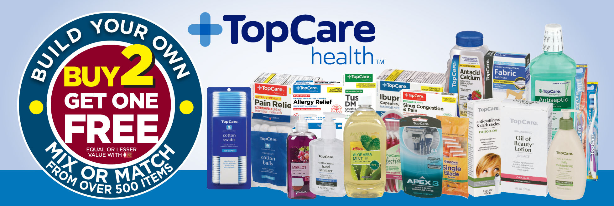 TopCare Buy 2 Get 1 Free Sale
