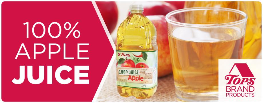 TOPS Brand Apple Juice