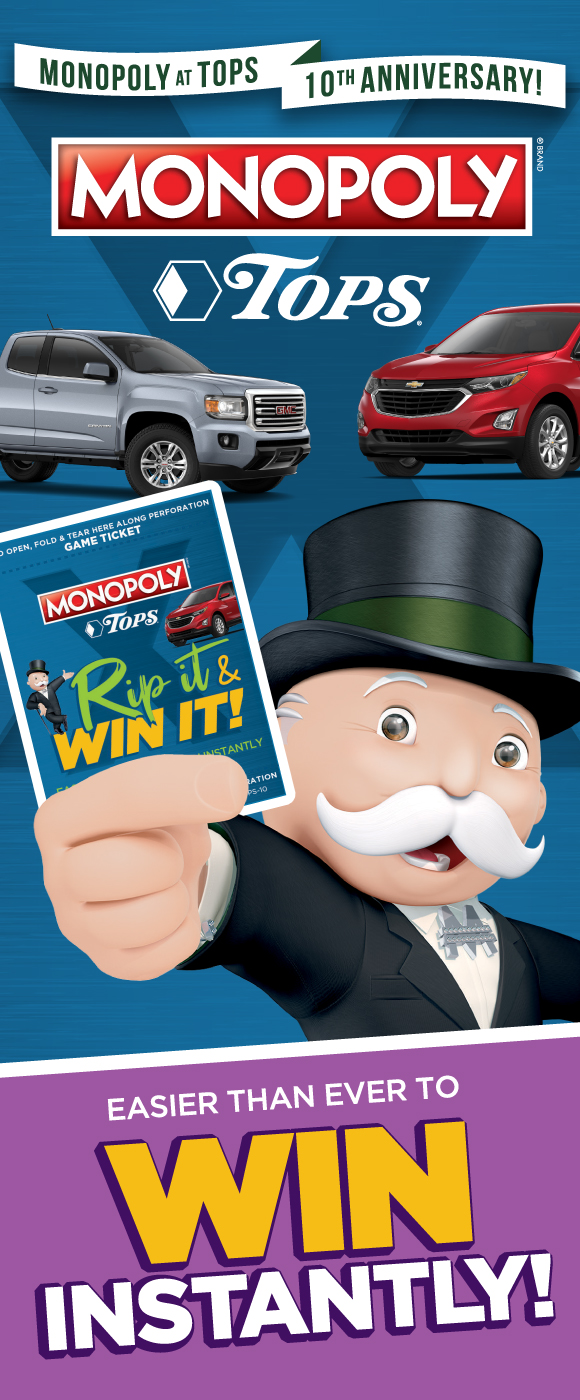 TOPS Monopoly is Back