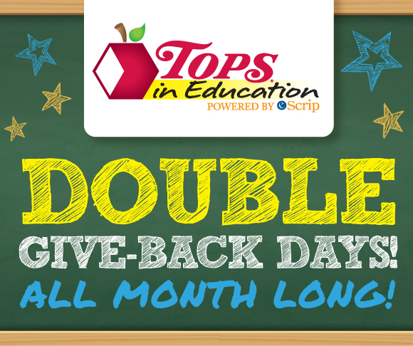 Tops in Education Double Give Back Days