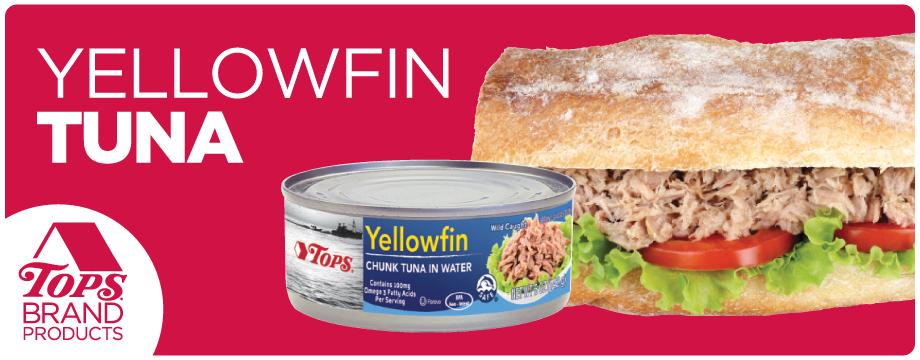TOPS Brand Yellow Fin Tuna