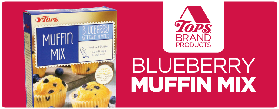 TOPS Brand Blueberry Muffin Mix