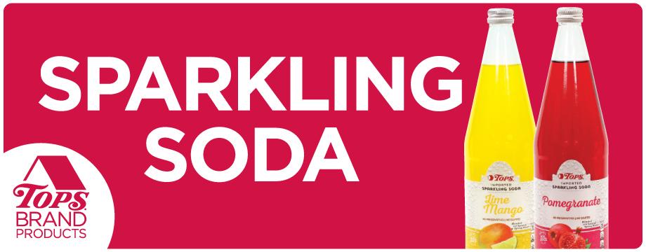 TOPS Brand Sparkling Soda