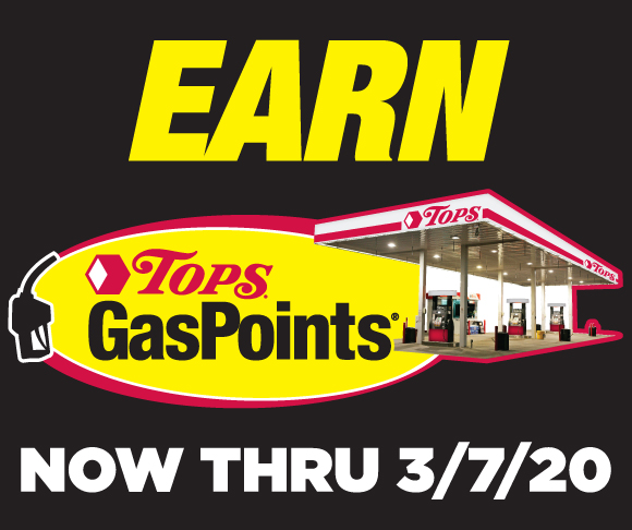 Earn Tops GasPoints through March 7