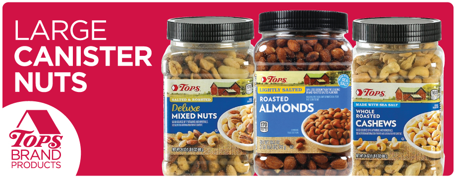 TOPS Brand Large Canister Nuts