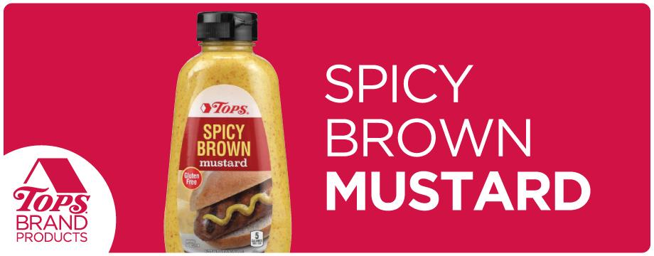 TOPS Brand Spicy Brown Mustard