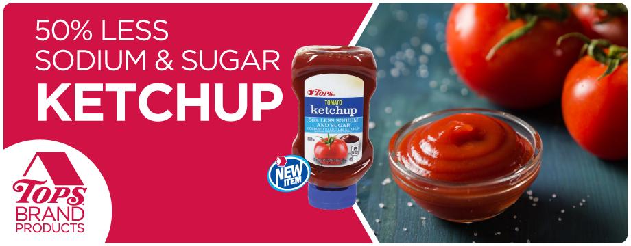 TOPS Brand Low Sodium Ketchup