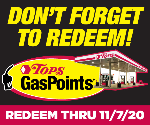 Earn Tops GasPoints through October 24th