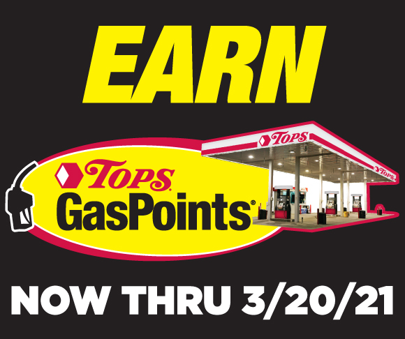 Eaern Tops GasPoints through March 20 				2021