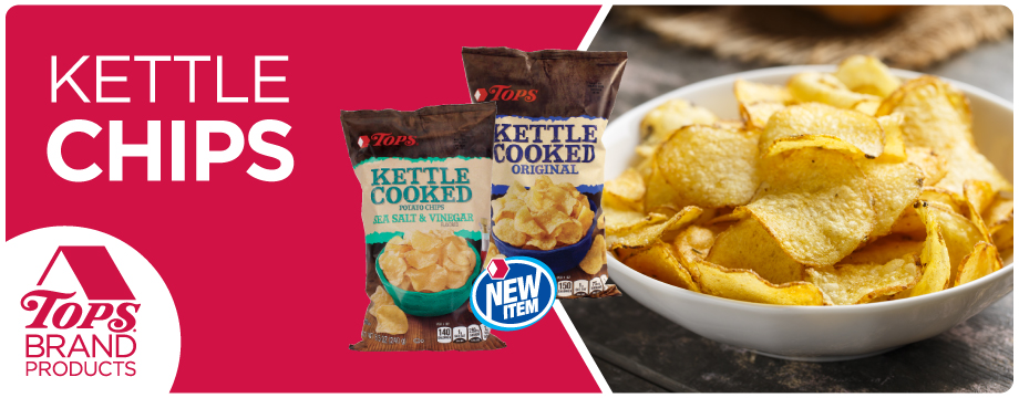 TOPS Brand Kettle Chips