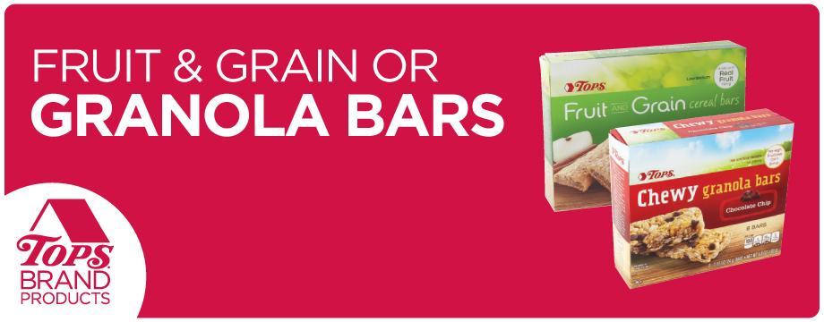 TOPS Brand Fruit and Grain Granola Bars