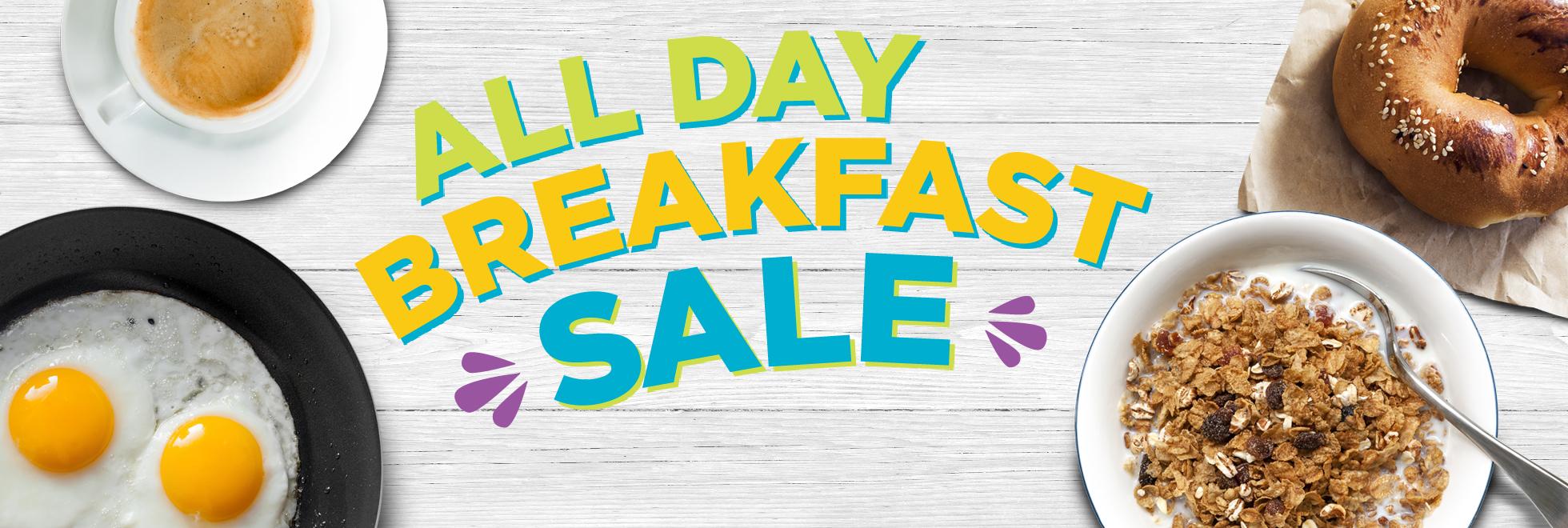 All Day Breakfast Sale