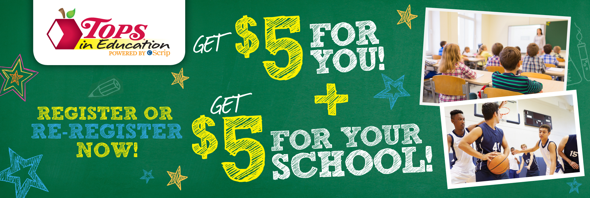 TOPS in Education $5 Promotion