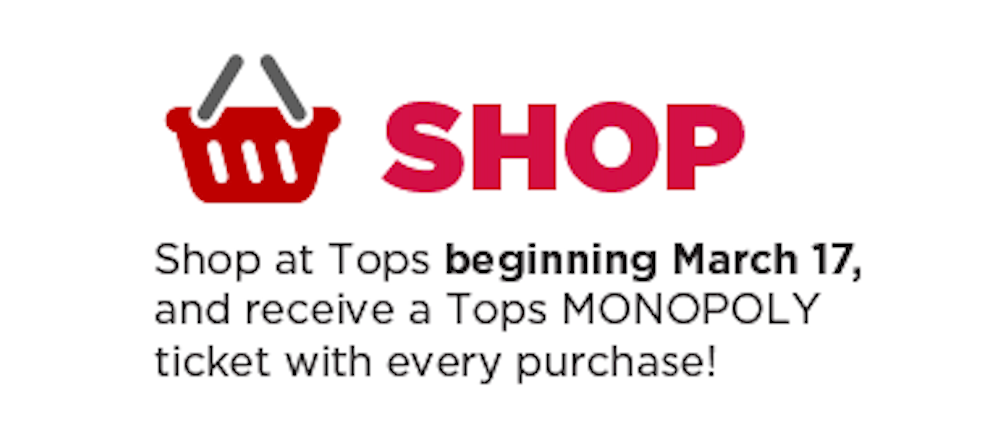 Tops Friendly Markets - Monopoly 2019 - 2nd Chance Sweepstakes