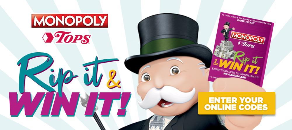 Monopoly Rip & Win