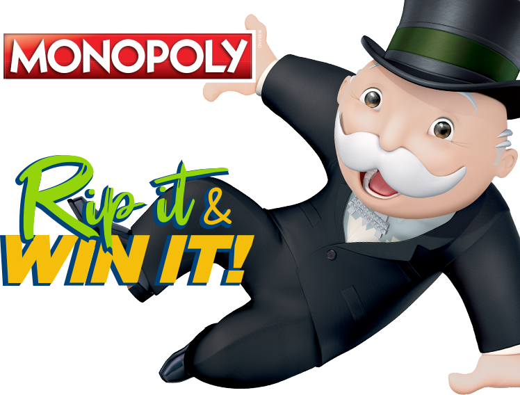 Mobile Monopoly Rip & Win
