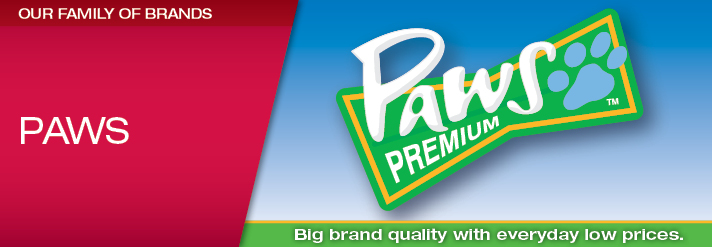 Paws Premium Pet Care Products Header