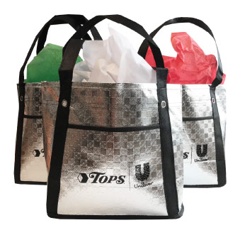 TOPS bag giveaways