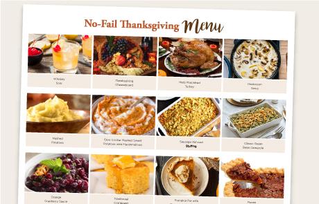 No Fail Thanksgiving Menu